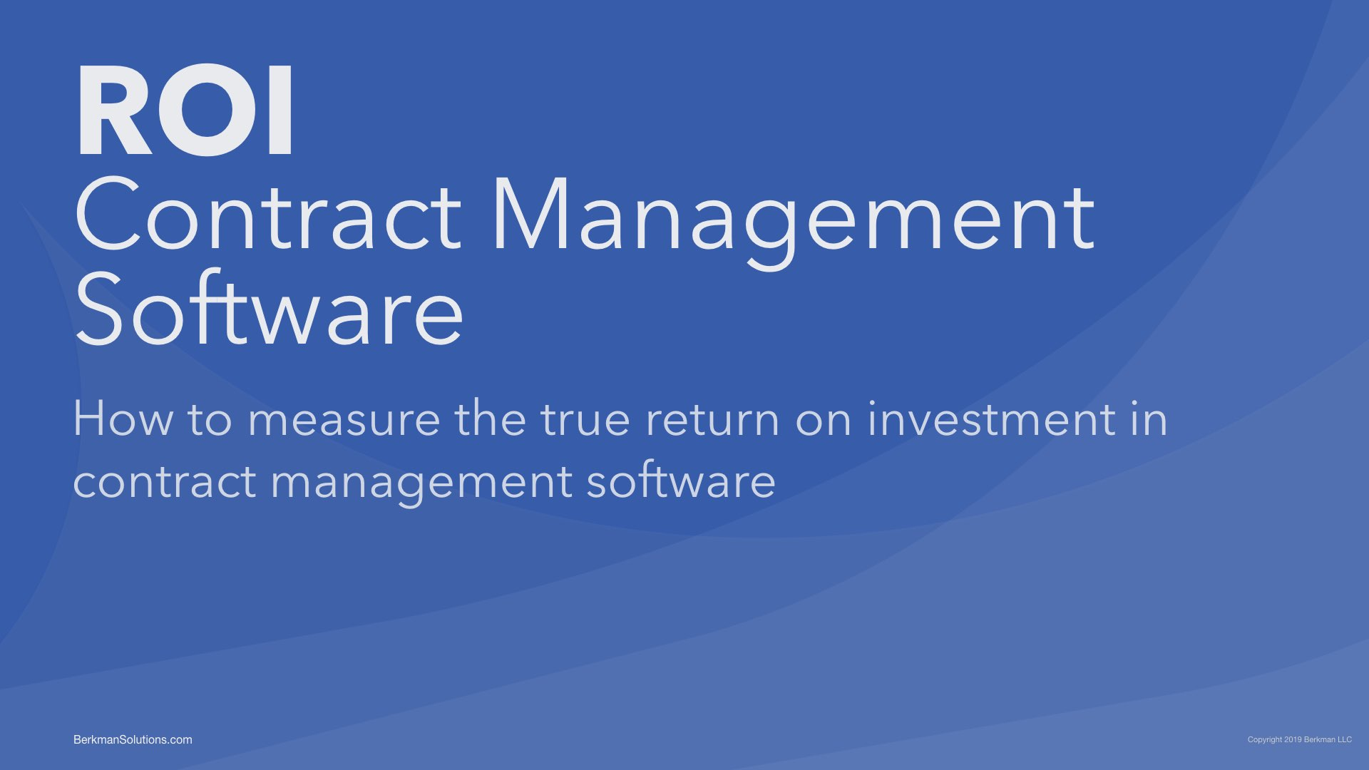 ROI on Contract Management Software