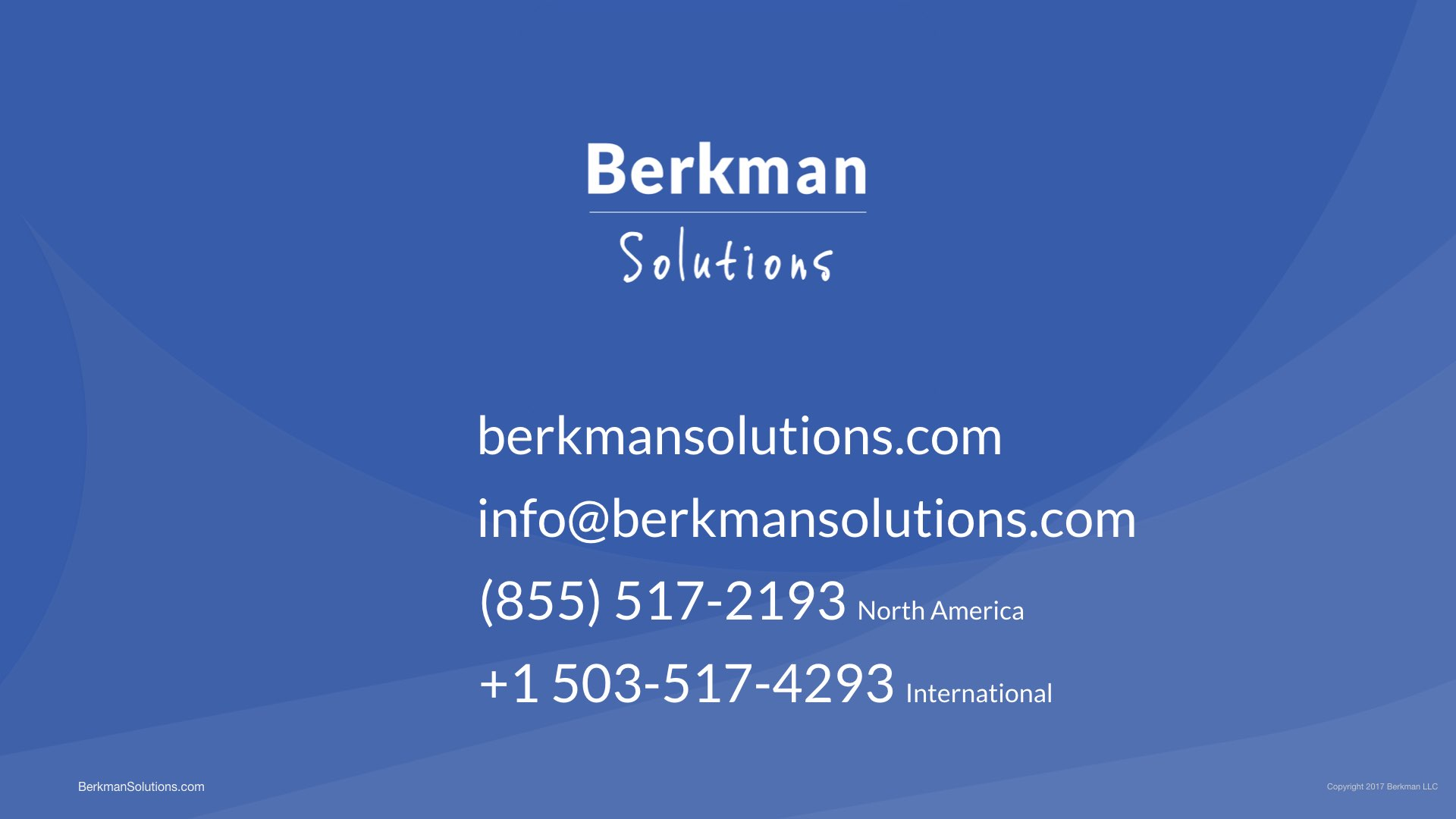 Contact Berkman Solutions about Lextree