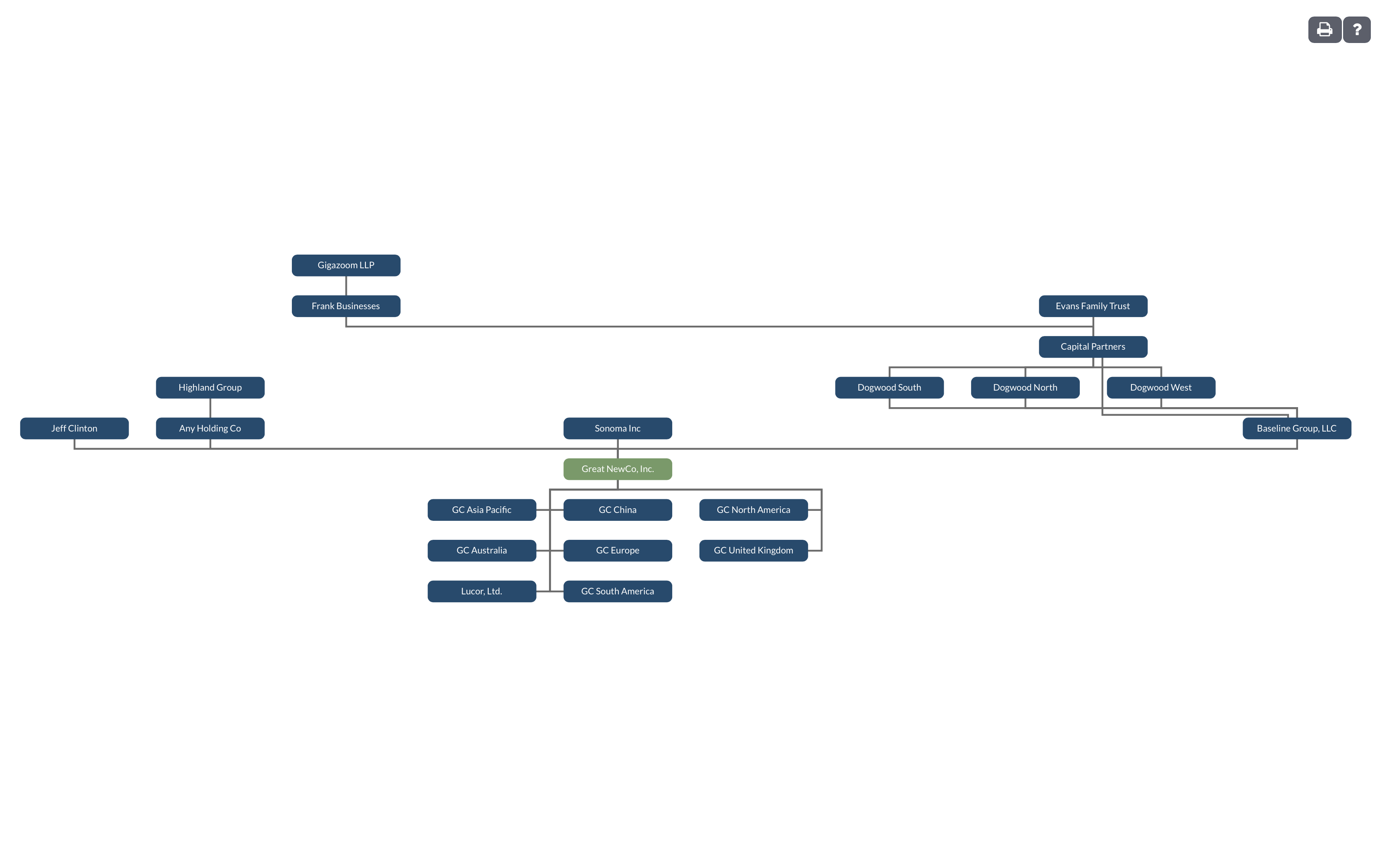 Legal Entity Org Chart