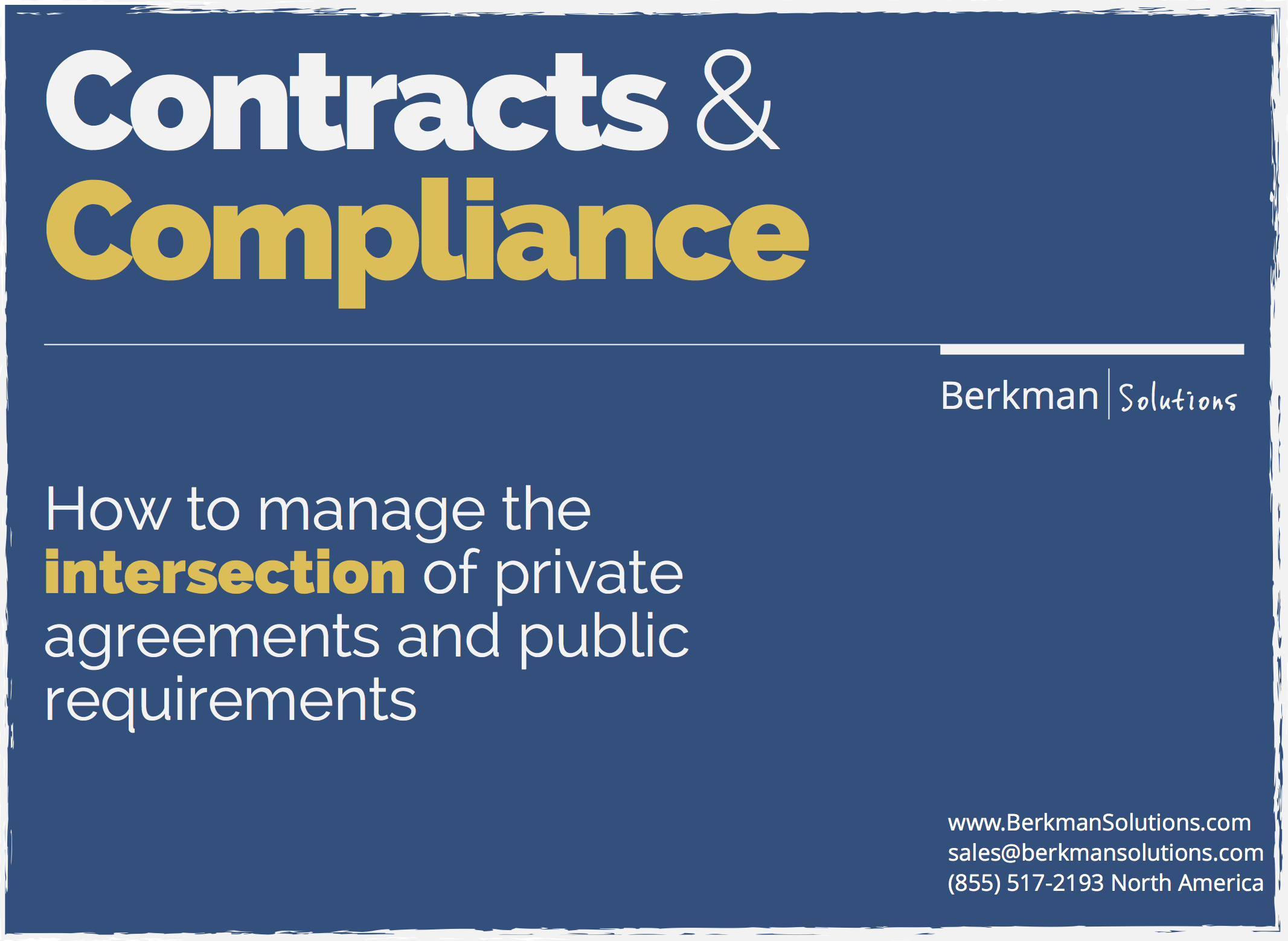 Contracts and Compliance